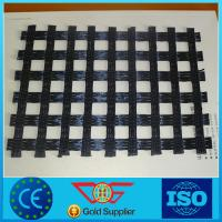 China Warp Knitted Polyester Geogrid for Soil Reinforcement on sale