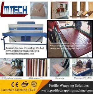Buy cheap TM2480 MDF furniture automatic vacuum pvc membrane press machine product
