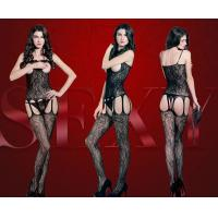 Quality bodystocking pictures of women black panties lingerie fishing net for sale