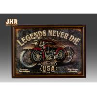 Buy cheap Resin Motorcycle Wall Decor Antique Wood Pub Signs Decorative Wall Plaques product