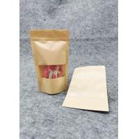 Buy cheap Window  Kraft Paper Stand Up Pouch Packaging / Kraft Resealable Pouches product