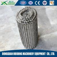 China Fire Resistant Roller Track Conveyor , Collapsible Roller Conveyor With SS Wire Mesh Chain Link Plate on sale