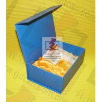 Blue Recycled Paper Food Packing Boxes with Ribbon For Chocolate