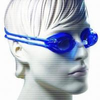 Buy cheap Anti-fog Swimming Goggles with Replaceable Nose Bridge, 100% UV Protection from wholesalers