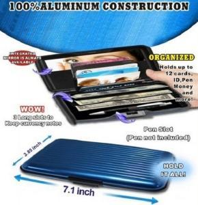 Buy cheap Large Multi-fuction Aluminum Wallets/Comestics Case,Coins case product