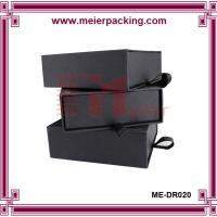 Buy cheap High quality matte black slide paper box/cardboard drawer box with ribbon ME-DR020 product