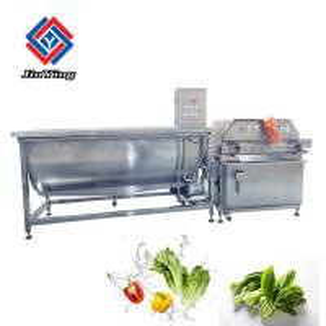 China Vegetable Fruit Lettuce Cabbage Bubble Washing Machine With Ozone 60HZ on sale