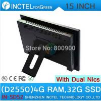 Buy cheap All in one desktop pc with 5 wire Gtouch 15 inch LED touch 4G RAM 32G SSD Dual 1000Mbps Nics product