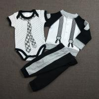 Buy cheap Anti Shrink Autumn Infant Girl Clothes Outfits Casual Shape 3pcs Knitted product