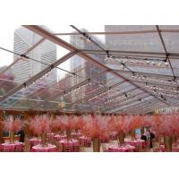 Buy cheap Large Aluminum Clear Span Tents , Marquee Transparent Wedding Tent Waterproof from Wholesalers