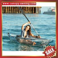 China beautiful seeing through transparent clear crystal PC polycarbonate canoe kayak boat for sale,manufacturer from China on sale