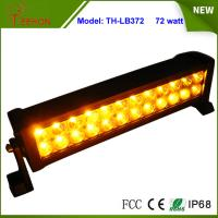Buy cheap Amber and White Color 13.5 inch Epistar LED Strobe Light Bar 72W Flash Lamp for Sale product