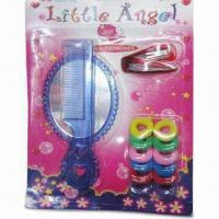 China Children's Hair Accessory Set with Mirror, Hair Comb/Clip and Elastic Band on sale