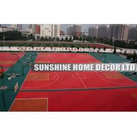 Buy cheap Waterproof Recycled Interlocking Sports Flooring For Sports Hall Floor Covering product