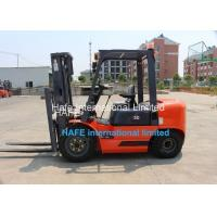Quality 3T Capacity Diesel Engine Forklift Truck With Soft Bag Clamp / 3 Stage 6m Container Mast for sale