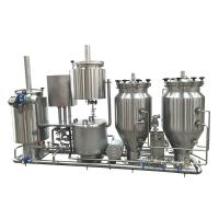 100L Experimental Brewing System , Home Steam Heated Micro Brewing Equipment