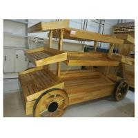 Buy cheap 2 Layers Promotion Supermarket Display Stands Wood Storage Shelves For Banana from Wholesalers