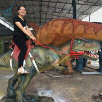 Buy cheap Huge Animatronic Dinosaurs Ride With Saddles At Jurassic Quest product