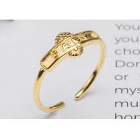 Buy cheap Beauty S925 Sterling Silver English Letters BABY Opening Adjustable Ring Gold - Plated Fashion Index Finger Ring product