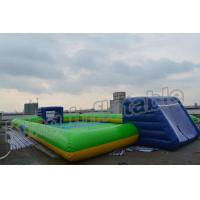 Buy cheap Giant Soap Water Football Field Inflatable Soccer Field for Sale product