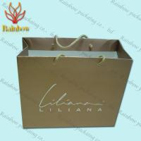 Buy cheap Recycled Kraft Customized Paper Bags With Handles For Shopping product