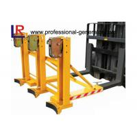 Buy cheap Safe Warehouse Material Handling Equipment Grab Mounted Drum Loader Forklift Attachment product