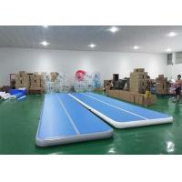 Buy cheap Floating water blue Inflatable Sports Games tumble track inflatable air mat for gymnastics product