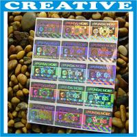 Buy cheap CUSTOM PRINT SECURITY HOLOGRAM LABELS STICKERS product