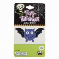 China Temporary Halloween Glitter Tattoo, Nontoxic and Safe, Suitable for Promotions for sale