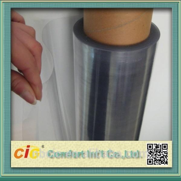 Quality Transparent 100 PVC Self Adhesive Film , Cold Lamination PVC Decorative Film for sale
