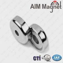 Buy cheap Round Base Neodymium Pot Magnet product