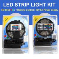 Buy cheap Color Changing RGB LED Strip Light Full Set 5M 5050SMD Come With Remote Control and Power Supply product