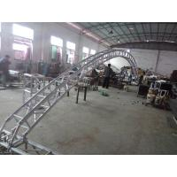 Buy cheap Black 300*300*12m Length Arch Spigot Connection Aluminum Stage Truss Strong Loading Capacity product