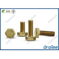 Quality DIN 933 Brass Metric Hex Bolts for sale