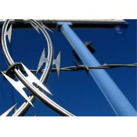 Buy cheap Concertina Razor Barbed Wire Electric Galvanized Steel Garden Border Edging product