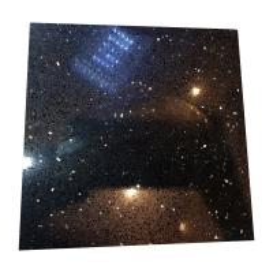 Buy cheap Black Galaxy Artificial Quartz Stone Slabs , Black Galaxy Quartz Countertop product