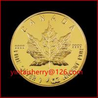 Buy cheap Maple leaf replica coin/ gold plated tungsten coin for Gift product