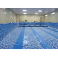 China 1.2mm, 1.5mm, 2.0mm swimming pool pvc liner/ pvc coated polyester mesh fabric/ pvc lamination sheet on sale
