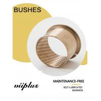 Buy cheap Phosphor Tin Bronze Flange Collar Wrapped Bronze Bushings Diamond Shaped Cusn8 Material H7 product