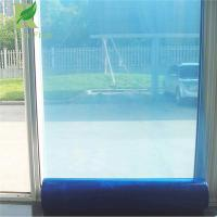 Buy cheap 0.025-0.2mm Blue Easy Peel Self-adhesion pe Protective Film for Glass product