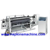 Buy cheap Fully Automatic Adhesive Tape Sticker Paper Slitting Rewinding Machine product