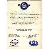 Aceally (Nanjing) Logistics Equipment Co.,Ltd Certifications