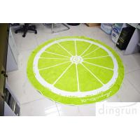 Buy cheap Jacquard Round Beach Towels Luxury Size Lemon Lolor 180*180cm product