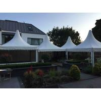 Buy cheap Out side Clear PVC Fabric Wall high peak tent rentals , Pagoda Party wedding reception tents from Wholesalers