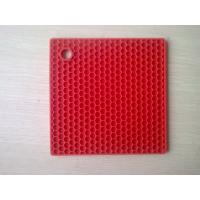 China Durable SquareSilicone Heat Resistant Mats Honeycomb Food-safe FDA Approval on sale