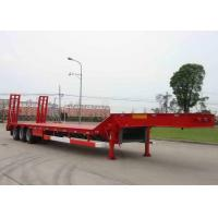 Buy cheap Low-bed Semi Trailer Truck 3 Axles 70Tons 17m for Loading construction machine product