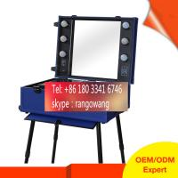 China Fashional Trolley Beauty Case PU Material With Mirror on sale