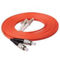 Buy cheap 1m (3ft) LC UPC to FC UPC Duplex 2.0mm PVC (OFNR) OM1 Multimode Fiber Optic Patch Cable product
