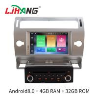 Buy cheap Silver 2 Din C4 Citroen Car Stereo GPS Navigation With Rear Camera product