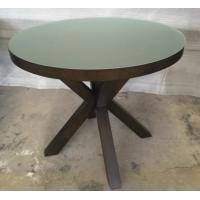 Buy cheap 6MM Tempered Glass Top Round Dining Table Hotel Interior Furniture ISO Listed product
